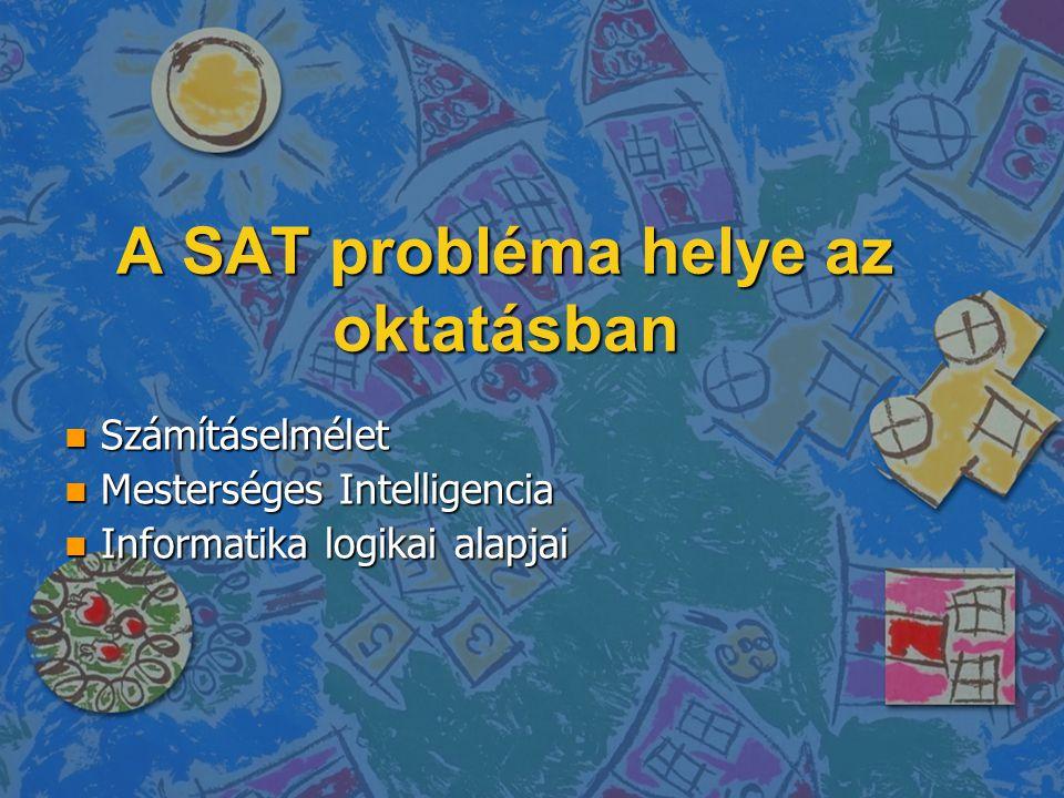 A SAT probléma helye az oktatásban
