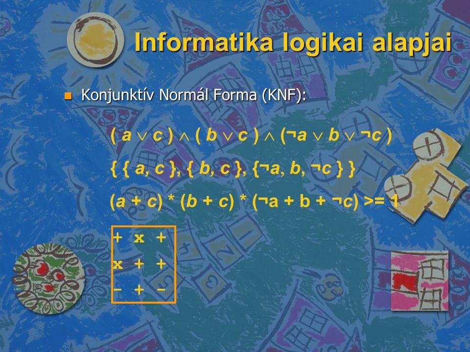 Informatika logikai alapjai