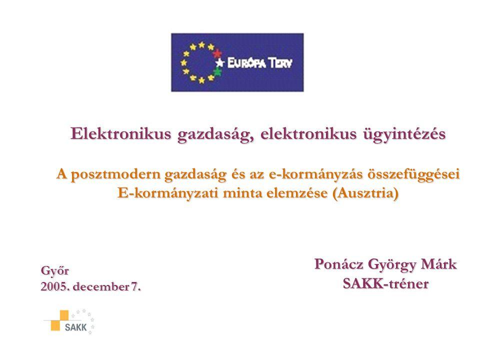 Elektronikus gazdaság, elektronikus ügyintézés
