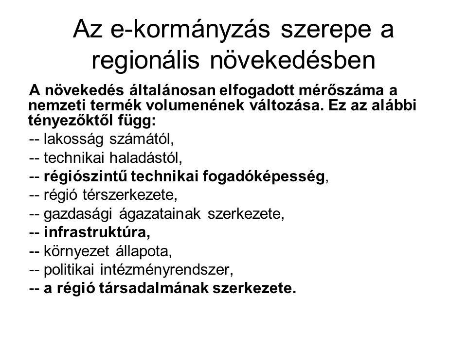 Az e-kormányzás szerepe a regionális növekedésben