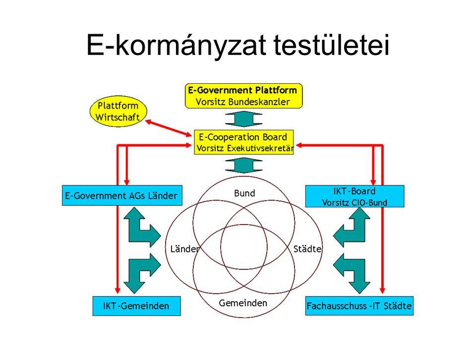 E-kormányzat testületei