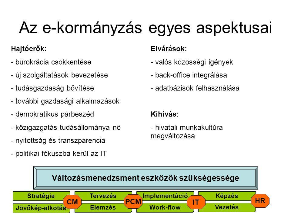 Az e-kormányzás egyes aspektusai