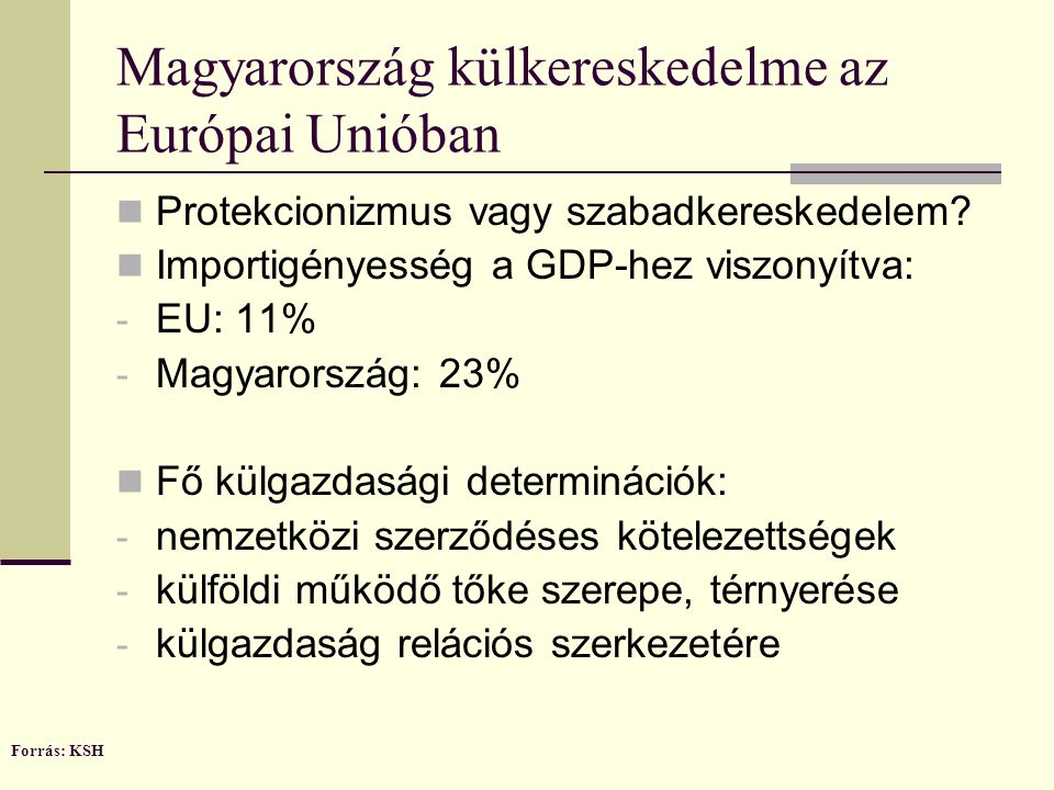Magyarország külkereskedelme az Európai Unióban