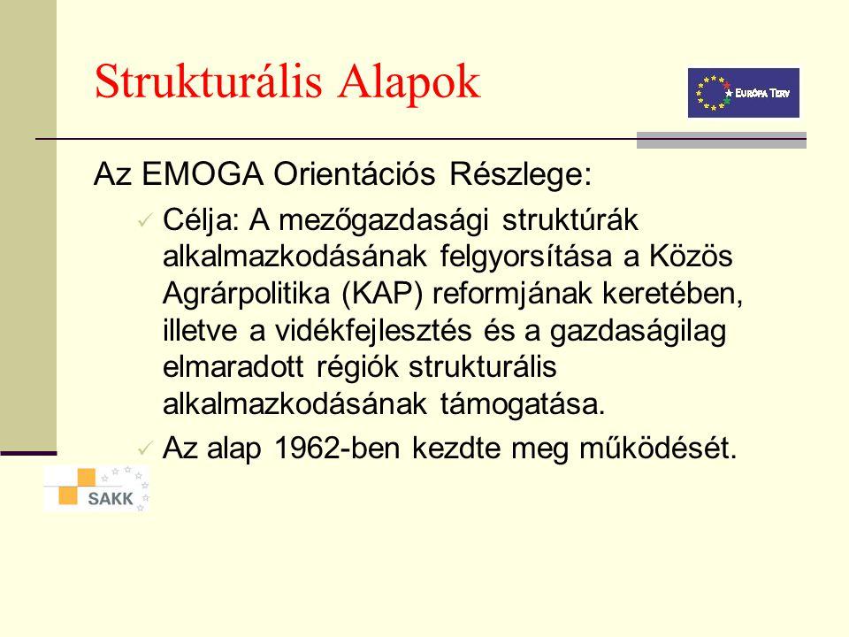 Strukturális Alapok Az EMOGA Orientációs Részlege: