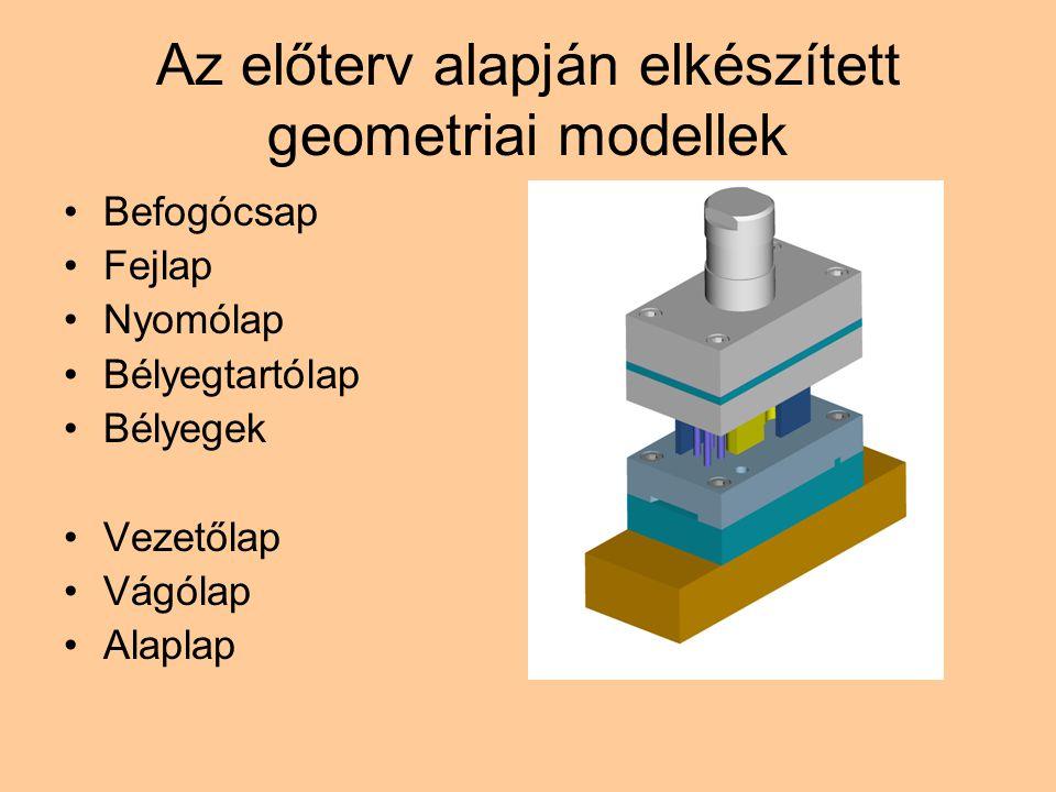 Az előterv alapján elkészített geometriai modellek