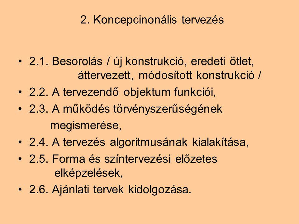 2. Koncepcinonális tervezés