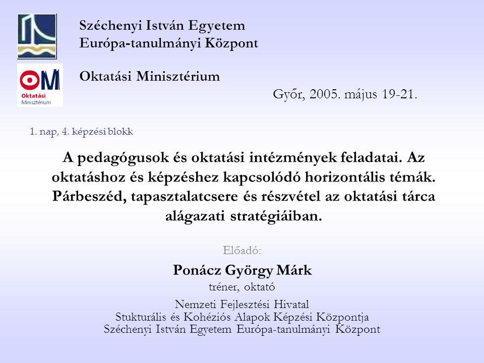 Széchenyi István Egyetem Európa-tanulmányi Központ