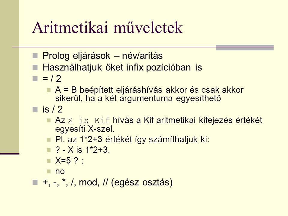 Aritmetikai műveletek