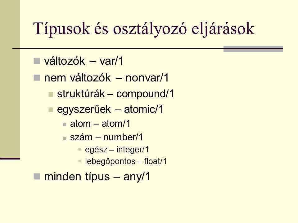 Típusok és osztályozó eljárások