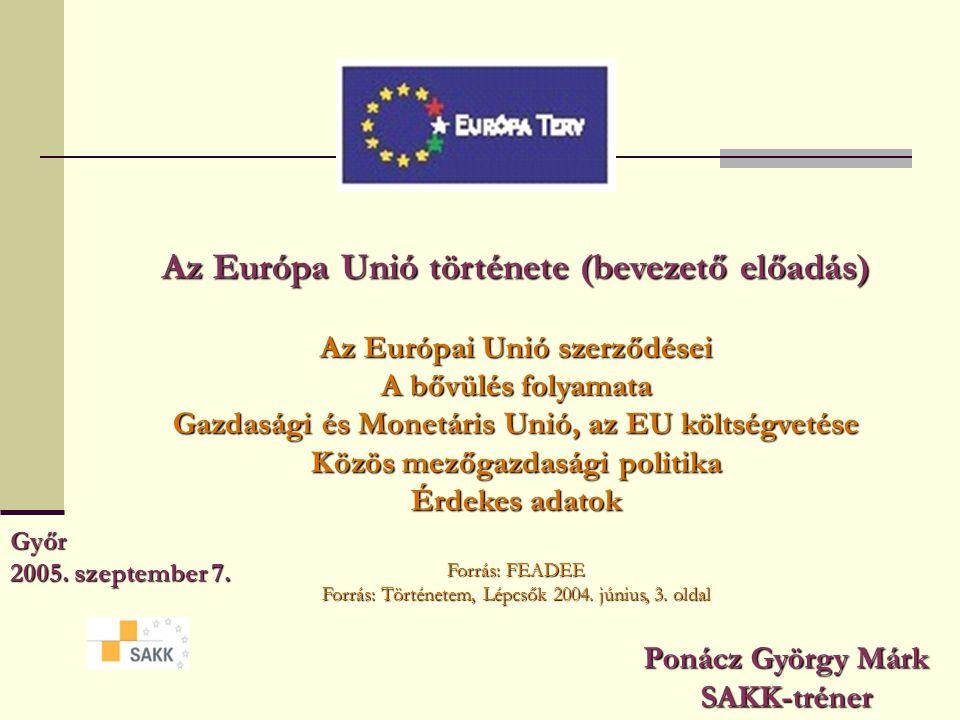 Az Európa Unió története (bevezető előadás)
