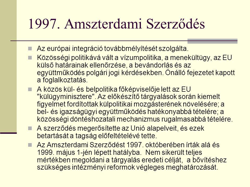 1997. Amszterdami Szerződés