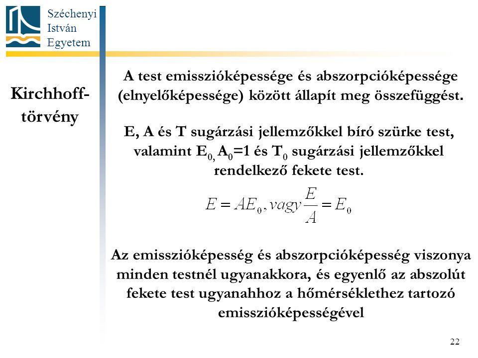 A test emisszióképessége és abszorpcióképessége (elnyelőképessége) között állapít meg összefüggést.