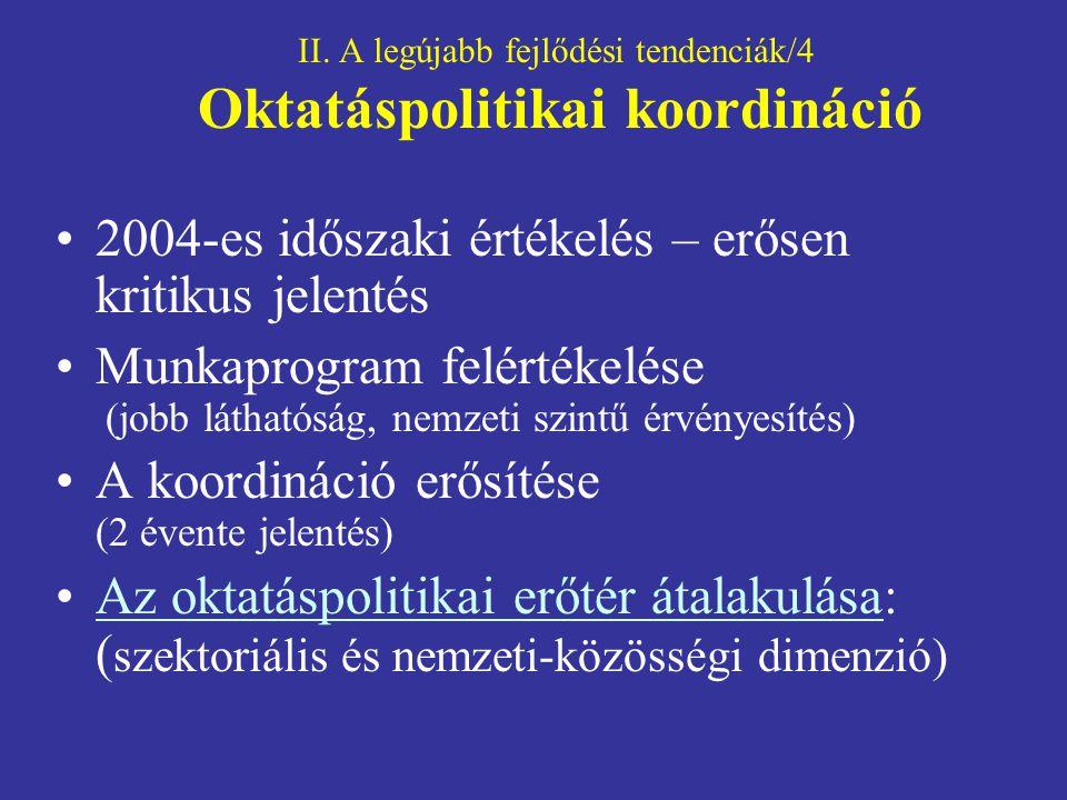 II. A legújabb fejlődési tendenciák/4 Oktatáspolitikai koordináció