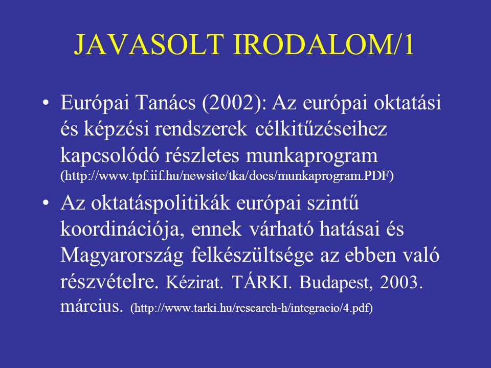 JAVASOLT IRODALOM/1