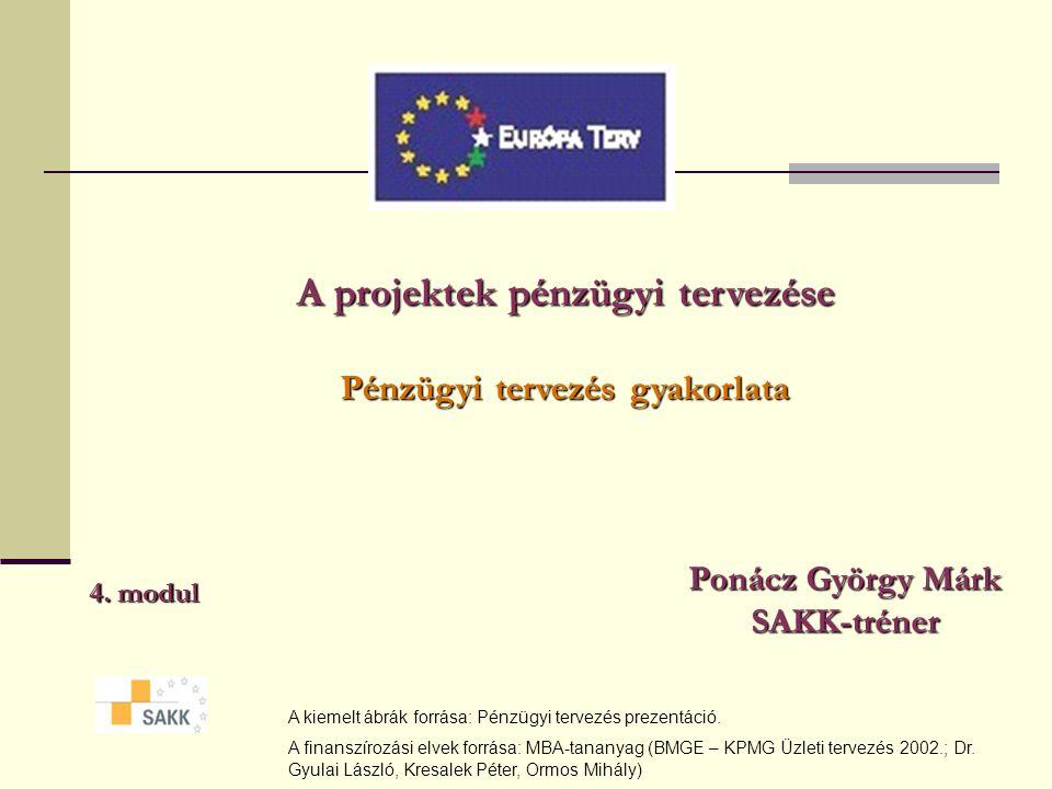 A projektek pénzügyi tervezése Pénzügyi tervezés gyakorlata