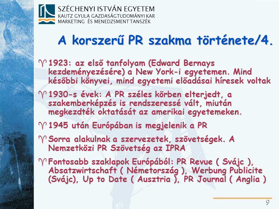 A magyar PR szakma története