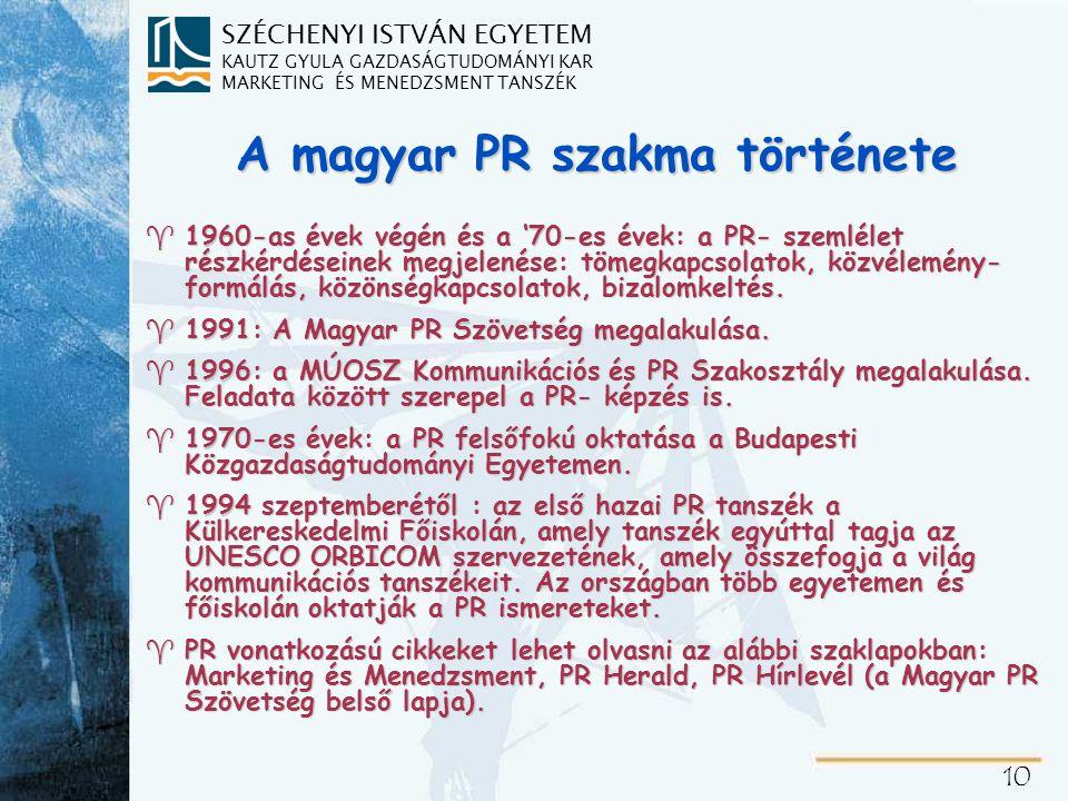 A PR felértékelődésének és a téma aktualitásának okai