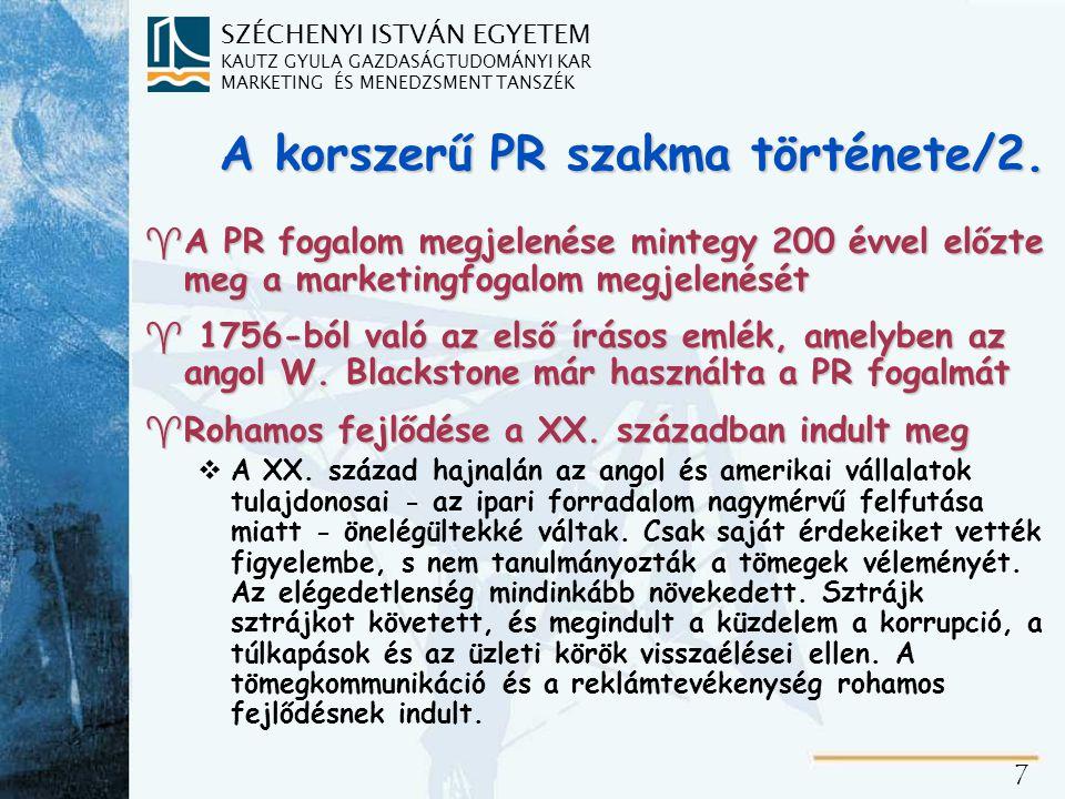 A korszerű PR szakma története/3.