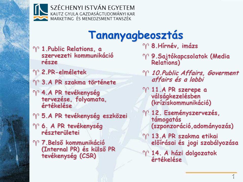 10.Public Affairs (kormányzati – közösségi kapcsolatok)