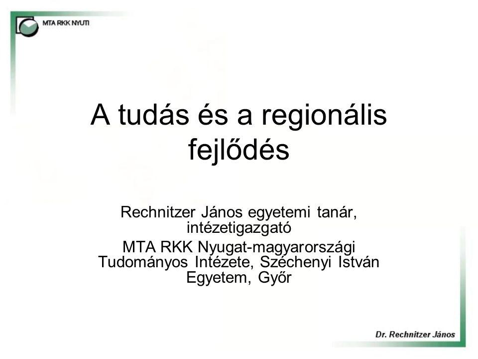 A tudás és a regionális fejlődés