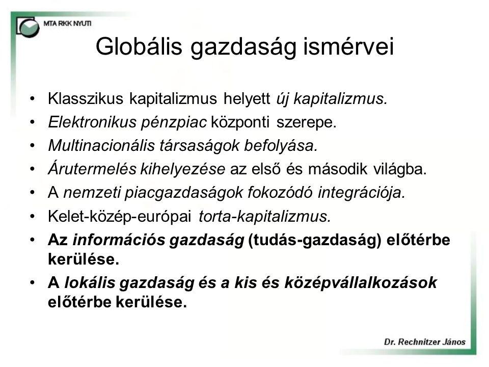 Globális gazdaság ismérvei