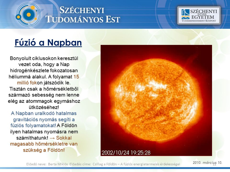 Fúzió a Napban