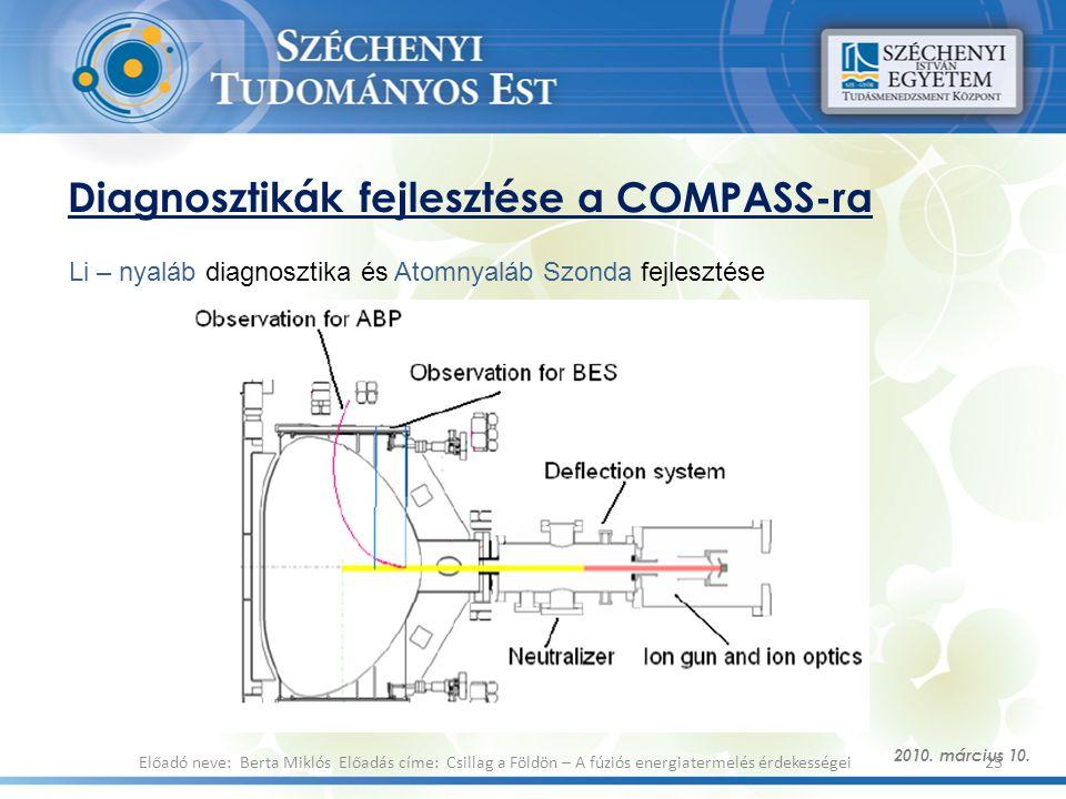 Diagnosztikák fejlesztése a COMPASS-ra