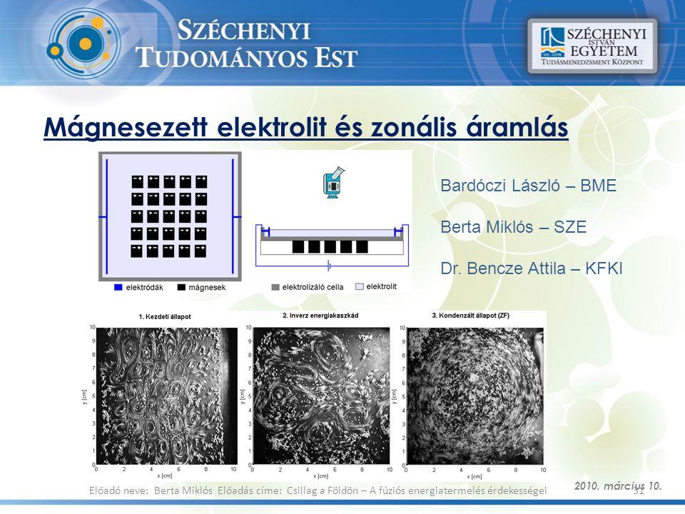 Mágnesezett elektrolit és zonális áramlás