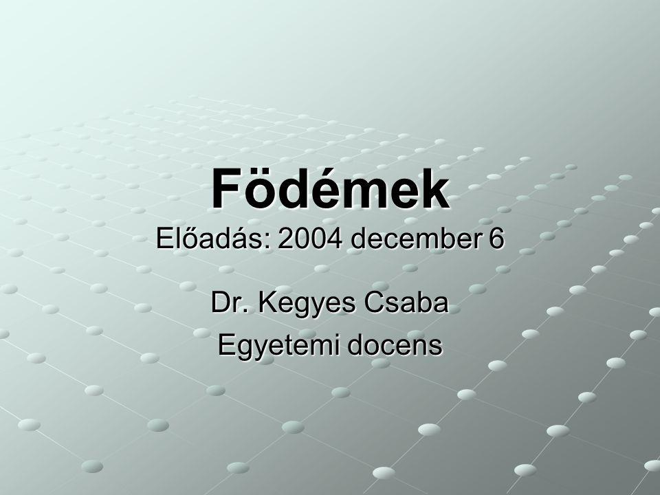 Födémek Előadás: 2004 december 6