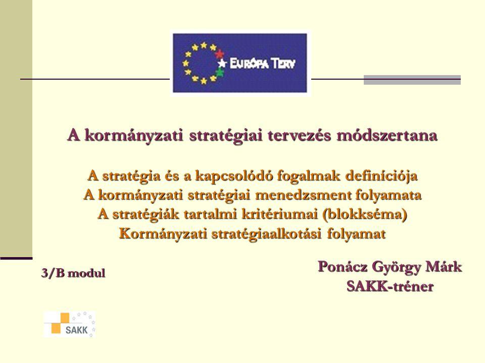 A kormányzati stratégiai tervezés módszertana
