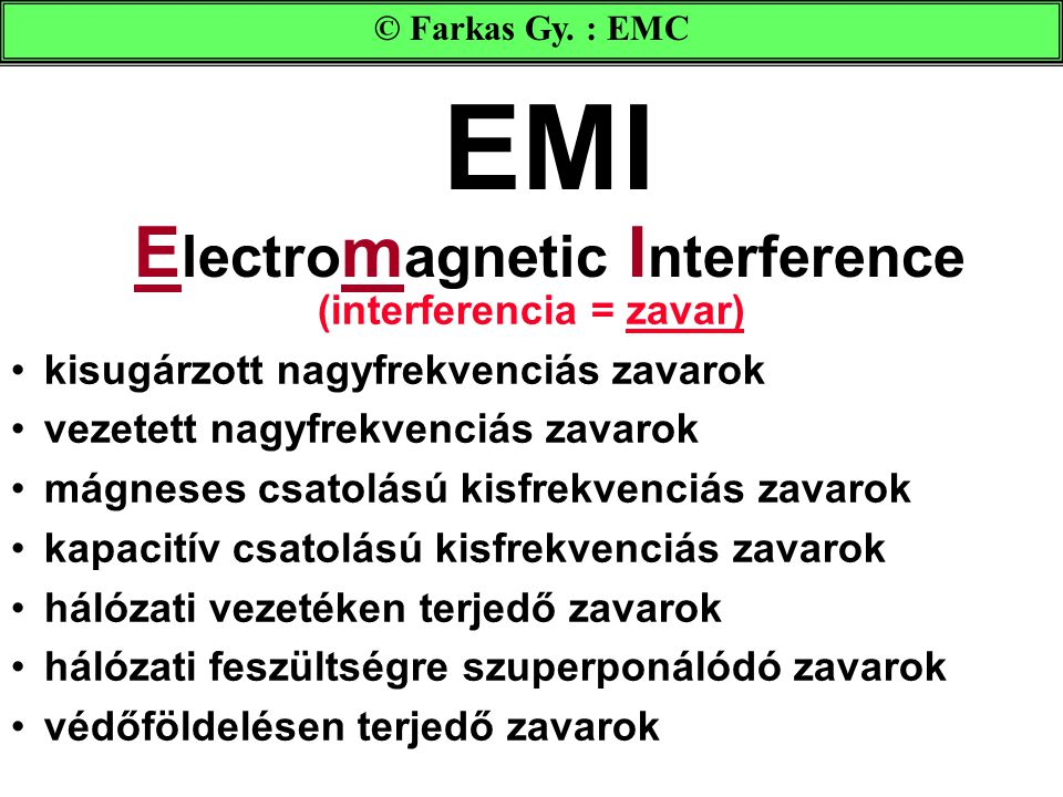 EMI Electromagnetic Interference