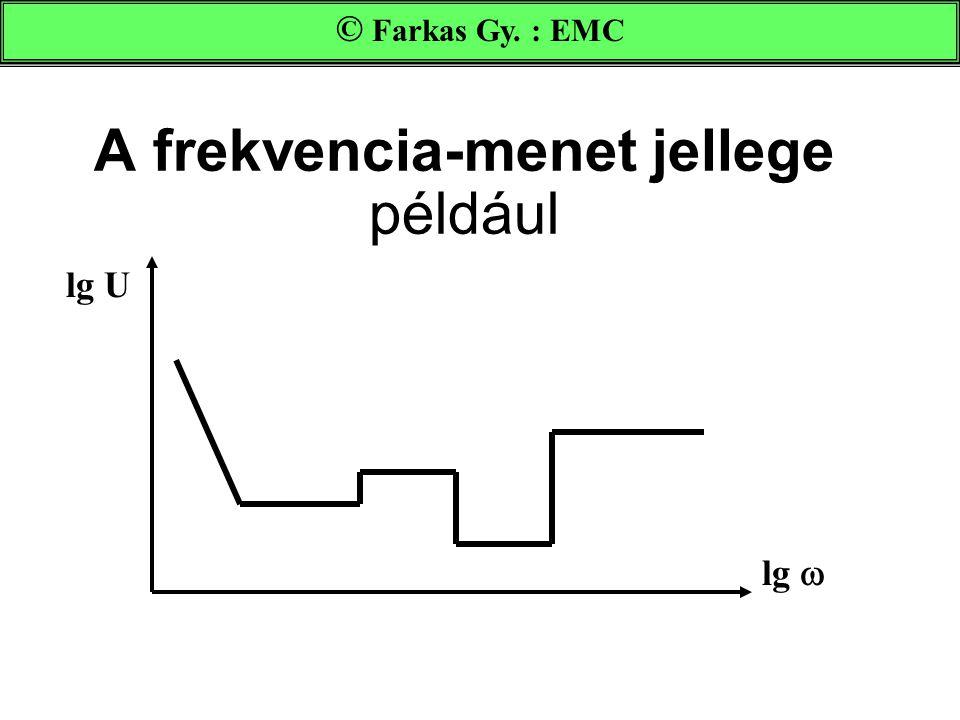 A frekvencia-menet jellege például