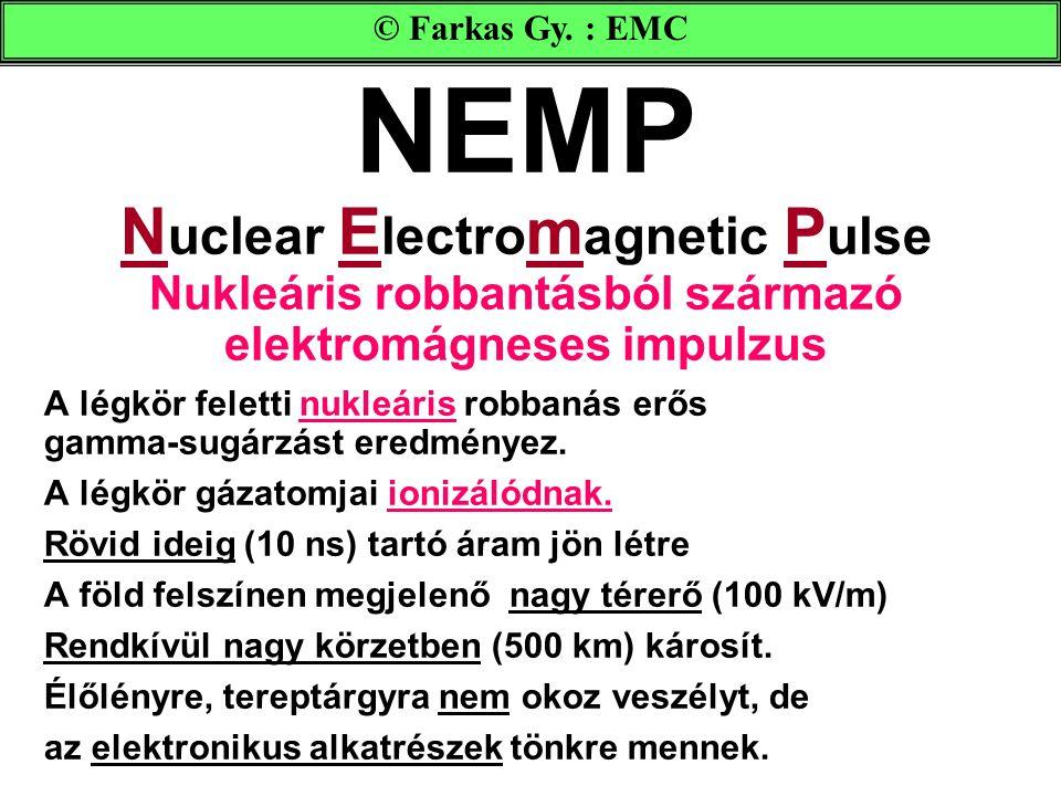 © Farkas Gy. : EMC NEMP Nuclear Electromagnetic Pulse Nukleáris robbantásból származó elektromágneses impulzus.