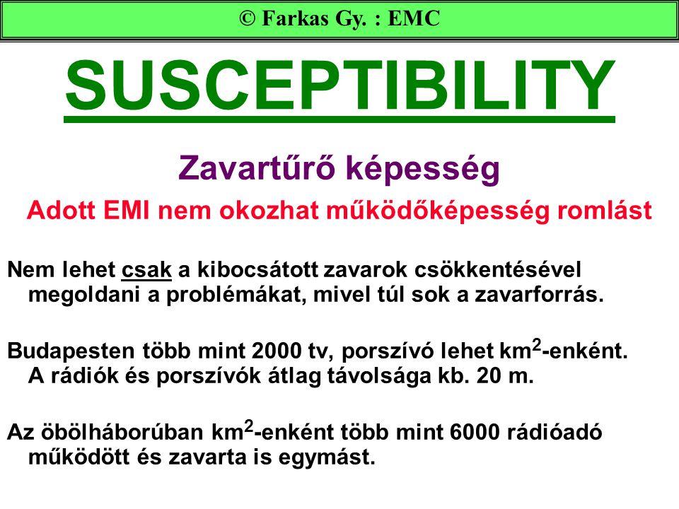Adott EMI nem okozhat működőképesség romlást