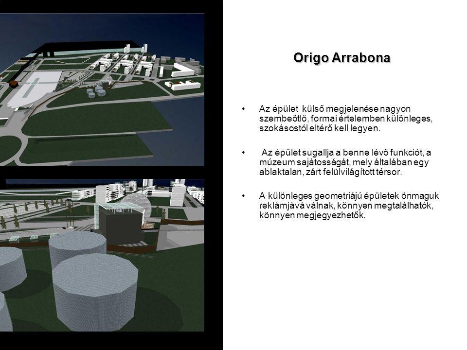 Origo Arrabona Az épület külső megjelenése nagyon szembeötlő, formai értelemben különleges, szokásostól eltérő kell legyen.