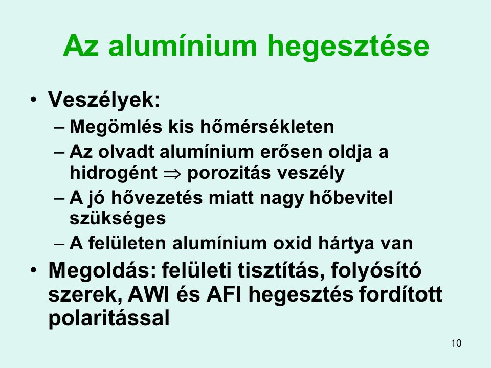 Az alumínium hegesztése