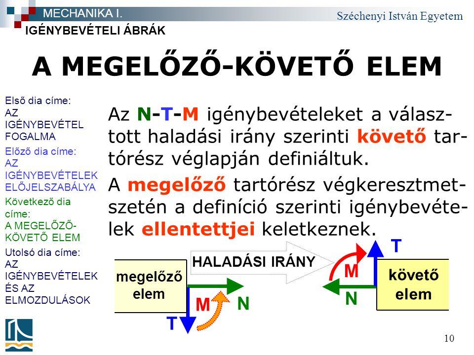 A MEGELŐZŐ-KÖVETŐ ELEM