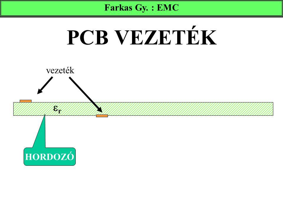 Farkas Gy. : EMC PCB VEZETÉK vezeték r HORDOZÓ