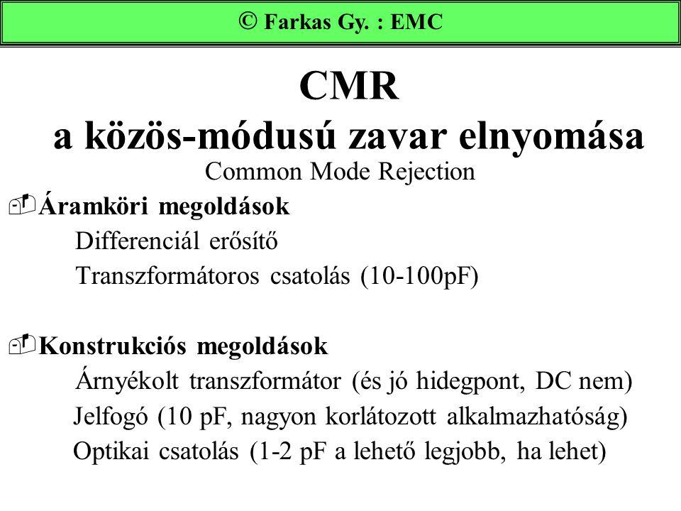 CMR a közös-módusú zavar elnyomása