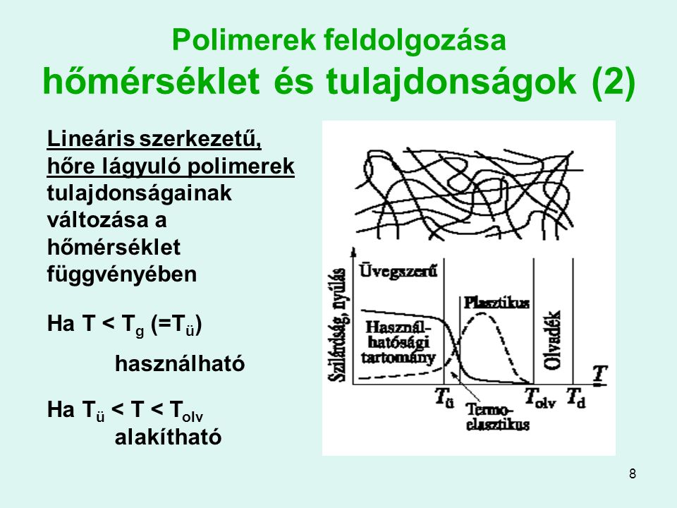 Polimerek feldolgozása hőmérséklet és tulajdonságok (2)