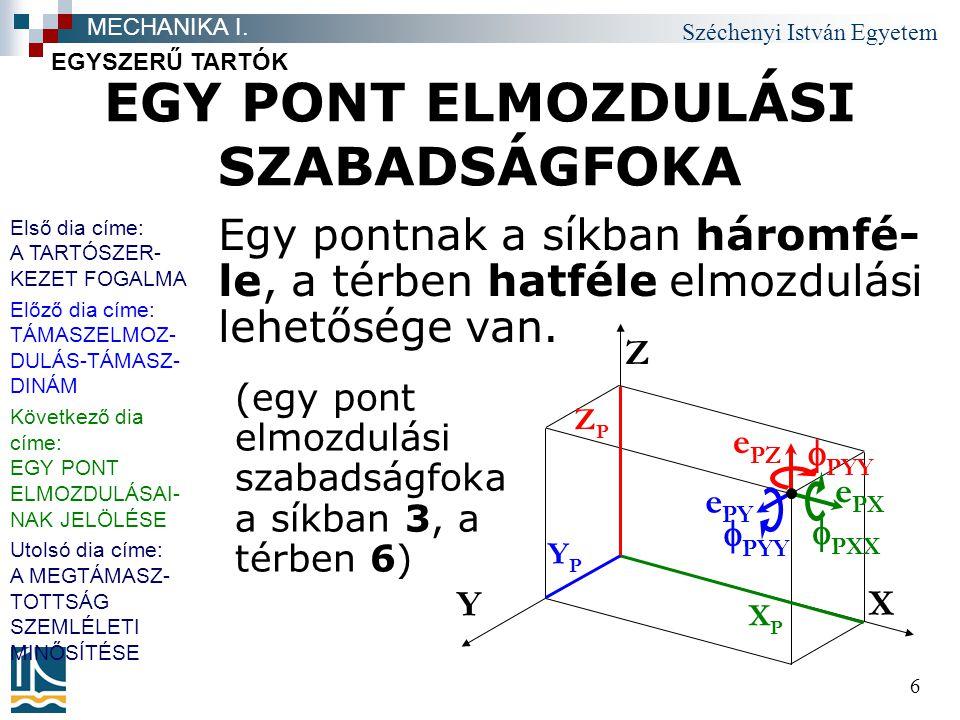 EGY PONT ELMOZDULÁSI SZABADSÁGFOKA