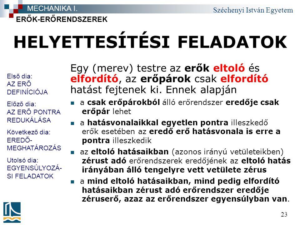 HELYETTESÍTÉSI FELADATOK