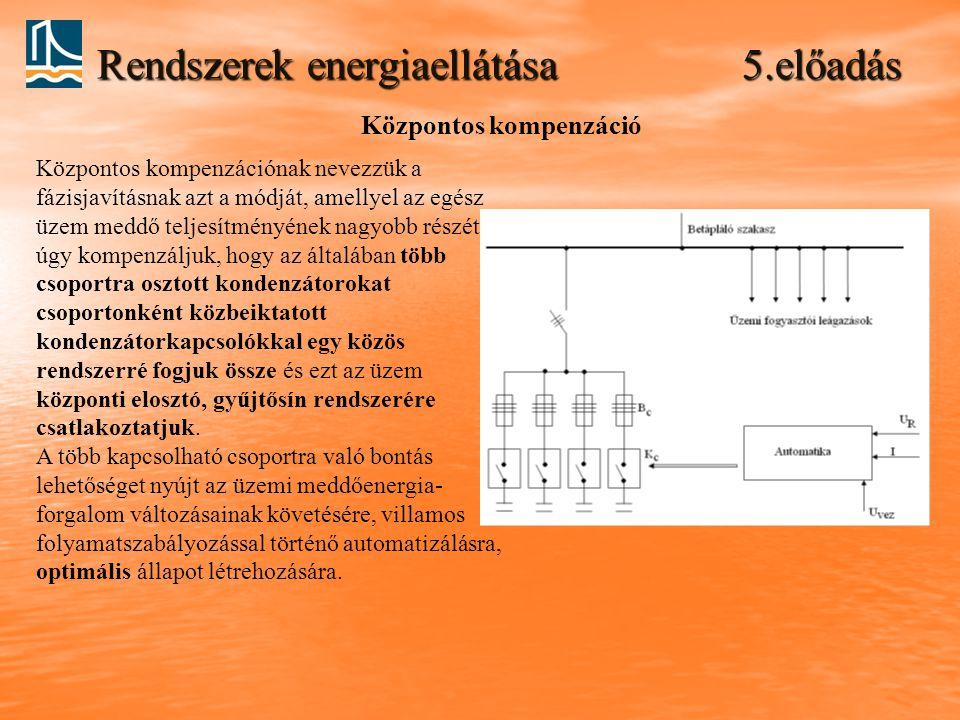 Rendszerek energiaellátása 5.előadás