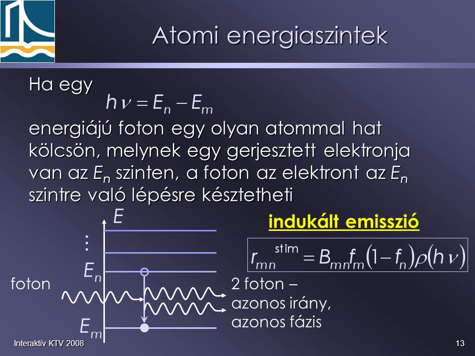 Atomi energiaszintek