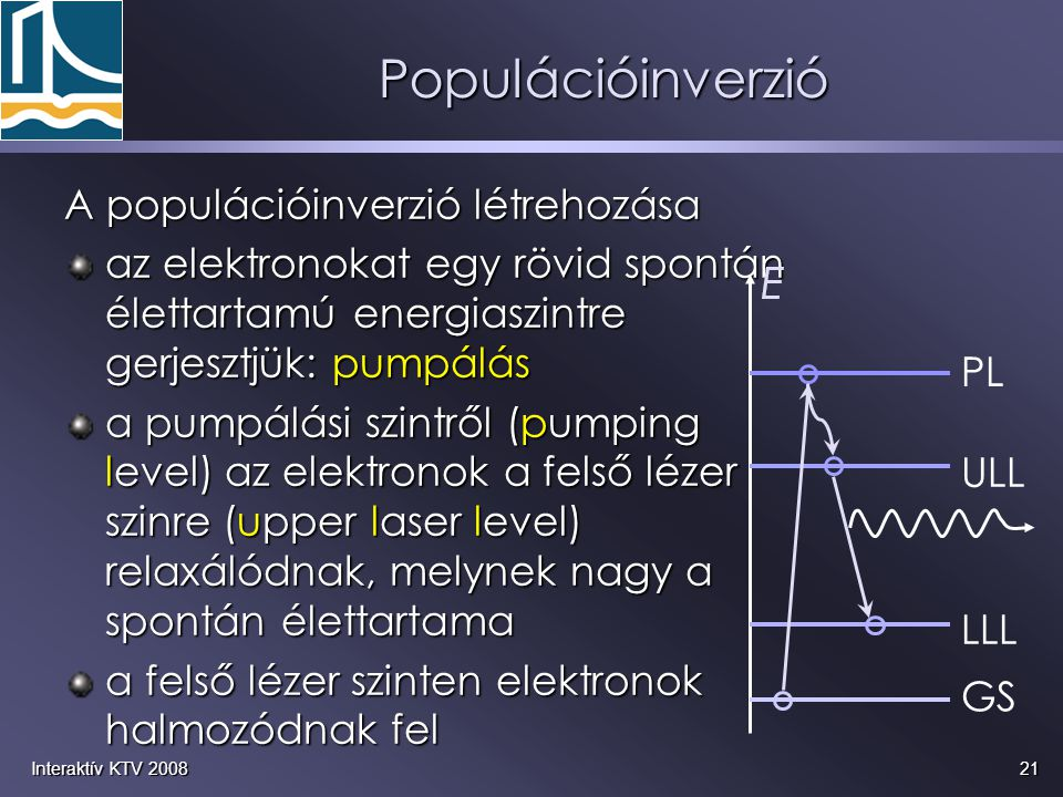 Populációinverzió A populációinverzió létrehozása