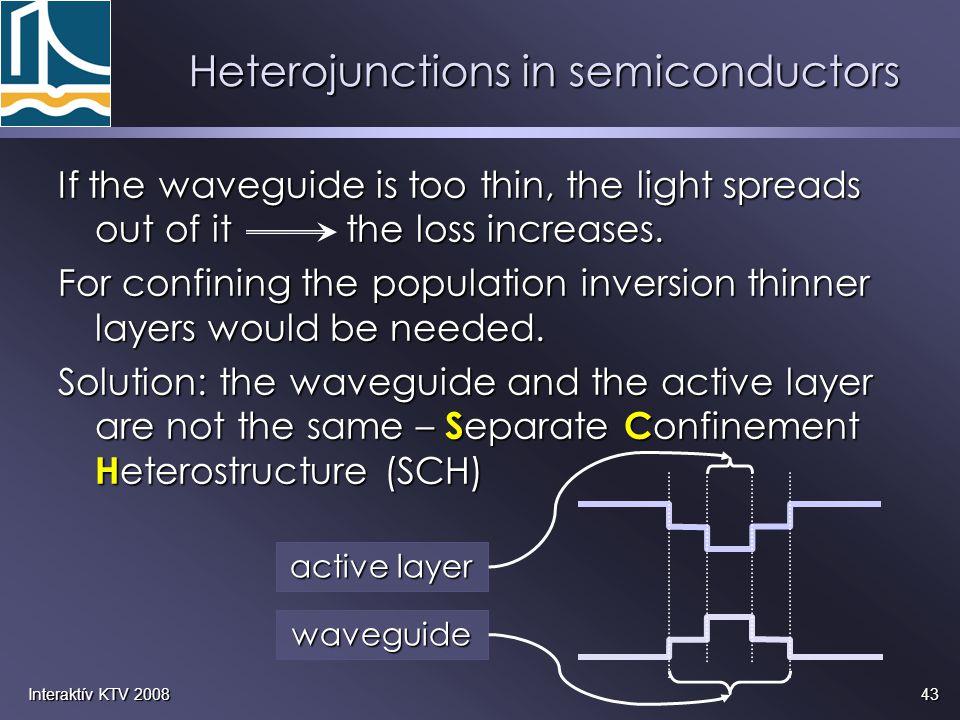 Heterojunctions in semiconductors