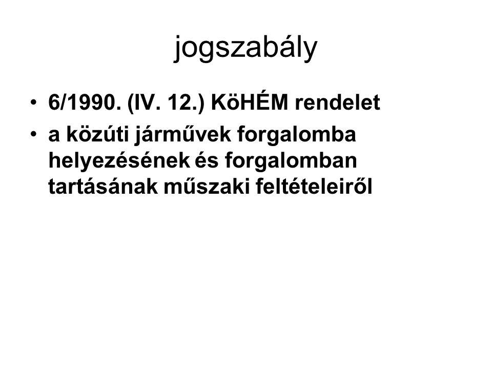 jogszabály 6/1990. (IV. 12.) KöHÉM rendelet