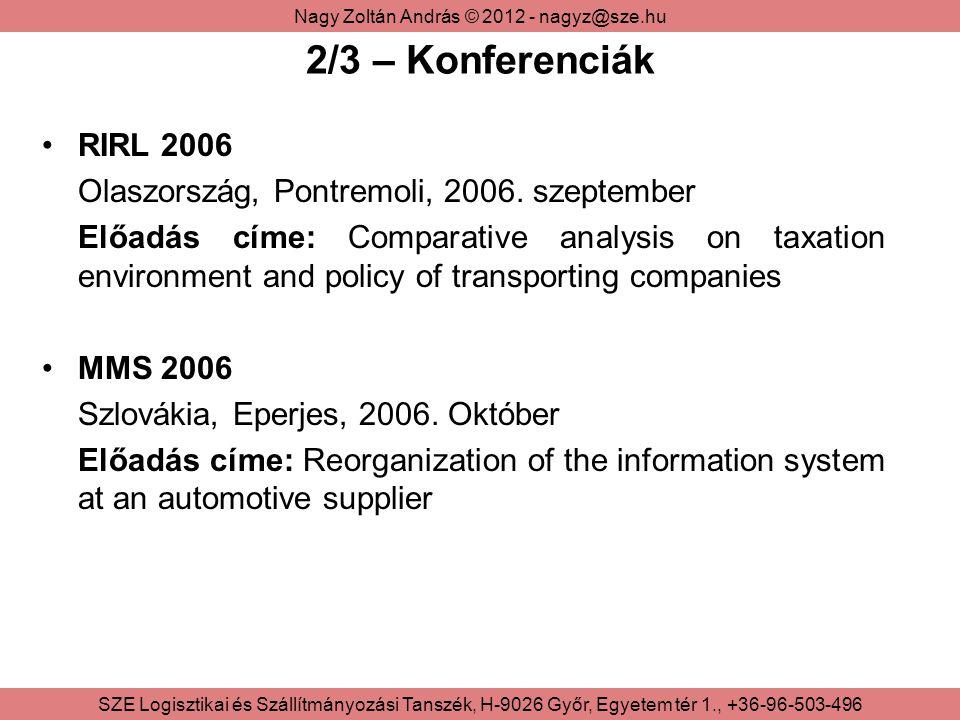 2/3 – Konferenciák RIRL 2006 Olaszország, Pontremoli, 2006. szeptember