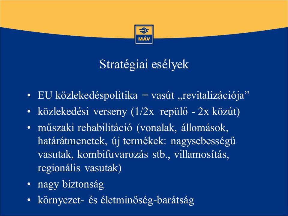"""Stratégiai esélyek EU közlekedéspolitika = vasút """"revitalizációja"""