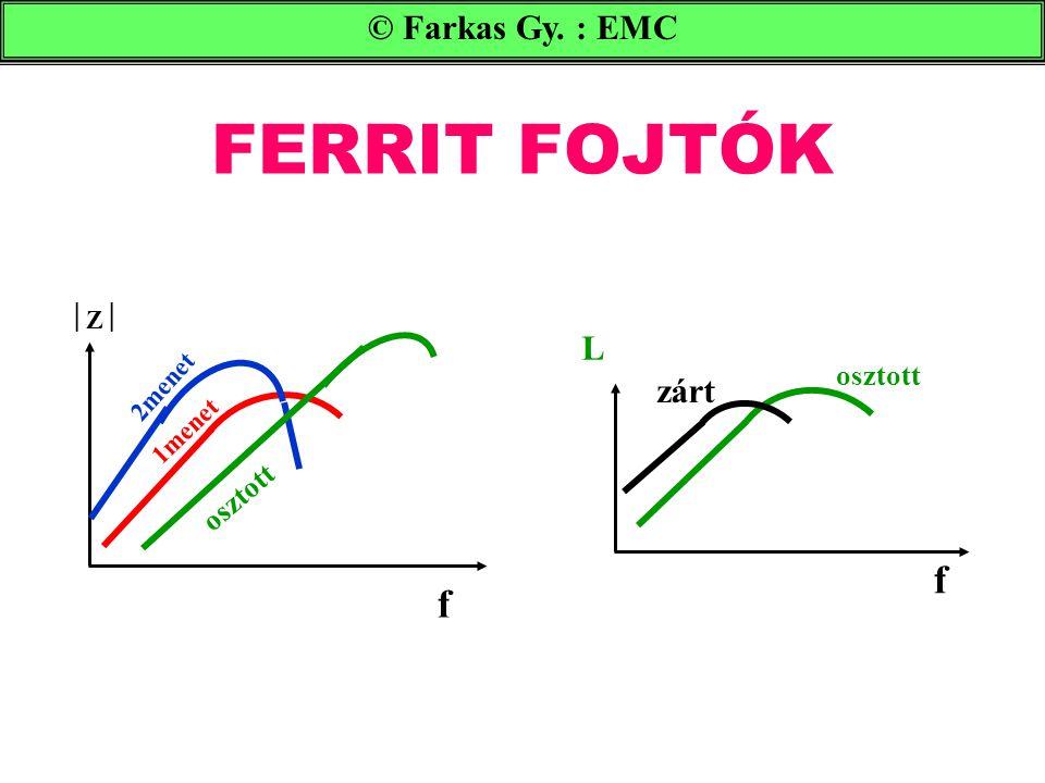 FERRIT FOJTÓK f f © Farkas Gy. : EMC L zárt osztott osztott Z 2menet